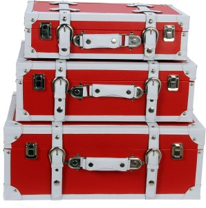 Vishal Props Red Rectangle suitcase set of 3 Check-in Luggage - 50 inch