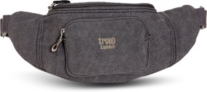 Troop London super-stylish Waist-Pouch - TRP0244 | Black Check-in Luggage - 24 inch