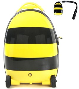 The Untold Stores Honey Bee Walking Suitcase Cabin Luggage - 16 inch