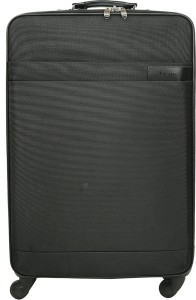 PRAGEE Black Fabric Luggage Suitcase Trolley Bag with 4 Wheels(Size-24 inches) Check-in Luggage - 26 inch