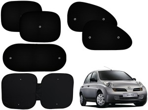 557ad5d36361 Auto Pearl Side Window Rear Window Sun Shade For Nissan Micra Black ...