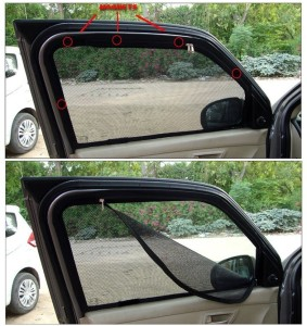 Carway Side Window Sun Shade For Hyundai Grand i10 Black Best Price ... e6dd2e74ad0