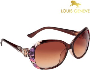 445b812f8d7b Louis Geneve LG SG 70 BR BROWN DR Oval Sunglasses Brown Best Price ...