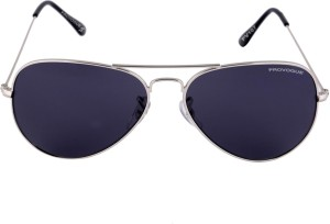 f35833eaa63a Provogue PV1007 Sil Blk Aviator Sunglasses Black Best Price in India ...