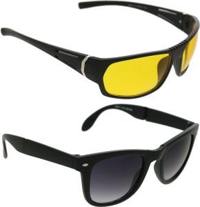 53cc629a32e Vast Combo Of Day Night Vision Wrap Around Cricket Goggles Black ...