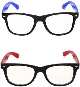 bfe6433c6c Amour propre SUNG COMB REDTRNS BLU TRNS Wayfarer Sunglasses Clear ...