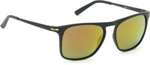 2aaf8ed9e938 Fizan FZ-6004-C4 Multicolor Mirror Polarized Rectangular Sunglasses ( Red  Multicolor )