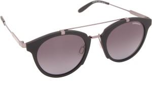26f5befdad Carrera 126 S QGG 49HD Round Sunglasses Black Best Price in India ...