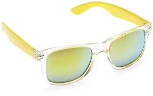 1b99b446851 Gio Collection SM088 C4 WAYFERERS PLAIN WHITE   GREEN -YELLOW Wayfarer  Sunglasses