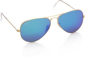57acb0635b Ray Ban RB3025 003 3F Aviator Sunglasses Blue Best Price in India ...