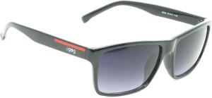 5b4712edb4 I-Gogs 6594-BL Rectangular Sunglasses ( Black )