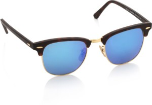 7d05db3330 Ray Ban 0RB3016 114517 Wayfarer Sunglasses Blue Best Price in India ...