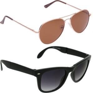 53f821ce54 Vast Combo Of Polarized Aviators and UV Protection Wayfarer Sunglasses