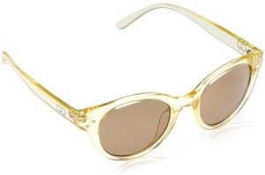 3034db6069f Gio Collection DZ 2039S(1050) CAT EYES LIGHT YELLOW   YELLOW Round  Sunglasses (