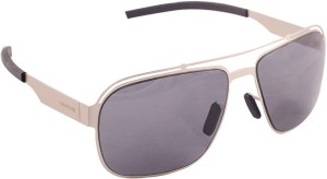 90e0556079 Creature polo 102 Rectangular Sunglasses Grey Best Price in India ...
