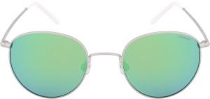 Polaroid PLD 6010 S 011 51K7 Round Sunglasses Green Best Price in ... 980483d533b