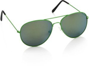 170a5345a74 Gio Collection AVIATOR07 Aviator Sunglasses ( Green )