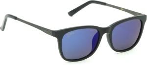 31105c984945 Fizan FZ 6006 C3 Blue Mirror Polarized Wayfarer Sunglasses Blue Best ...