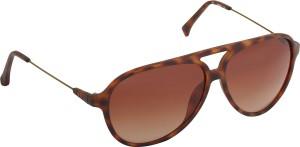 3d061c7a2ed1 Calvin Klein CK Jeans 411 202 S Aviator Sunglasses Brown Best Price ...