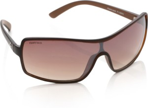 69671be368 Fastrack P119BR2 Wrap around Sunglasses Brown Best Price in India ...