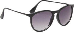 952f93d622 Ted Smith TS4187 BLK Round Sunglasses Grey Best Price in India
