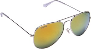 10990dd84fc MTV Roadies RD 111 C6 Aviator Sunglasses Green Golden Best Price in ...