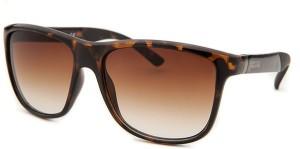 Kenneth Cole KC1270@5652F Wayfarer SunglassesBrown, Clear