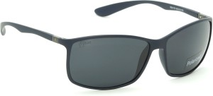 18f07ee08d4a Fizan FZ-4179-C13 Black Polarized Rectangular Sunglasses ( Black )