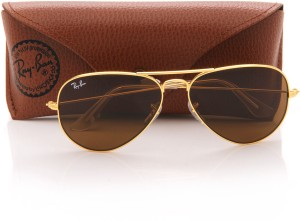 56c113b79d Ray Ban 0RB3025I L9797 Aviator Sunglasses Brown Best Price in India ...