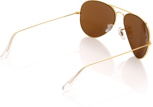 dc0fda933fd Ray Ban 0RB3025I L9797 Aviator Sunglasses Brown Best Price in India ...