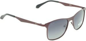 b4587dcfdc1c Fizan 5021-RD-BL Wayfarer Sunglasses ( Black Grey )