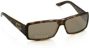 ebe83f55b7fb2 GUCCI GG 3101 S C - 791 Rectangular Sunglasses ( Brown )