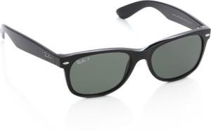 48d97edb32 Ray Ban 0RB2132901 58 Rectangular Sunglasses Green Best Price in ...