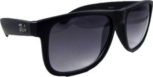330a8753fed0 Riy Don HBF9302 Rectangular Sunglasses ( Black )
