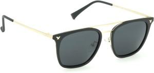 e425d53bff4c Fizan 6061 C1 Black Polarized Wayfarer Sunglasses Black Best Price ...