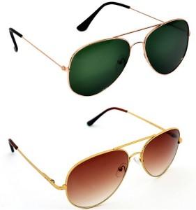 74a1405bf8 Ausum ASM-03-11 Aviator SunglassesBrown