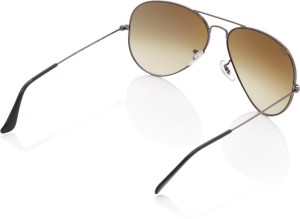 07566abfea Ray Ban 0RB3025 004 51 Aviator Sunglasses Brown Best Price in India ...