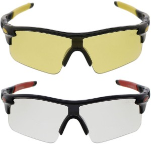 888f27d02c8 Vast Combo Of Day Night Vision Wrap Around Cricket Goggles Black Best Price  in India