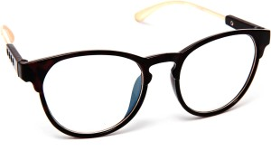 0c8f4234f64 TheWhoop New Style Black Golden Round Eyeglasses Spectacle Sunglasses