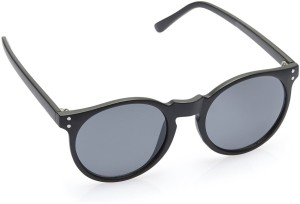 ee9e763021c Gio Collection DZ(3305 RF C1) CAT EYES WOOD BLACK   MIRROR Round Sunglasses