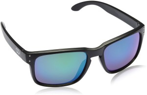 eccea9c7bbe Gio Collection BH 2057 CAT 04 OVERSIZED BLACK   MIRROR Rectangular  Sunglasses