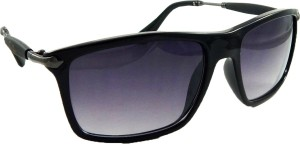 354cf90c1a50 Riy Don 2149-SHINY-BLACK-BLACK Rectangular Sunglasses ( Black )