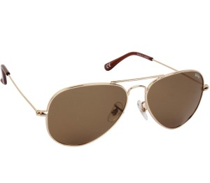d26577d811329 Lee Cooper LC9079 FOA GLD BRN Aviator Sunglasses Brown Best Price in ...