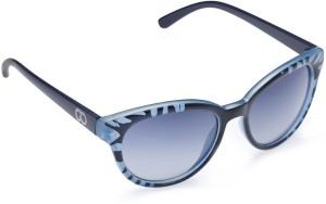 4c895c00eec Gio Collection BJ 3097 C2 OVERSIZED BLUE   BLUE Cat-eye Sunglasses ( Blue )