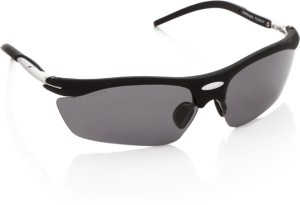 f4c7bcaa3d Fastrack P208BK2P Wrap around Sunglasses Grey Best Price in India ...