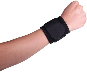 Arsa Medicare Wrist Wrap With-Double Lock-Neo-Black Universal Wrist Support (Free Size, Black)