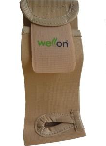 Wellon Elastic Wrist Brace With Thumb Regular Wrist Support (Free Size, Beige)