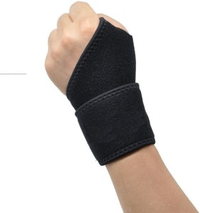 Arsa Medicare Wrist Wrap with Thumb (LYCRA) Wrist Support (Free Size, Black)