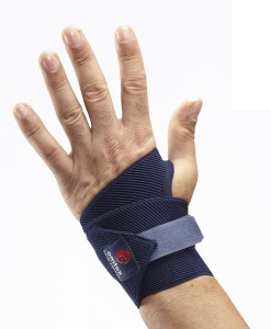 Omtex Elastic Hand Support (Free Size, Blue)