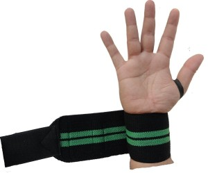 Kobo Power Weight Lifting Training Gym Straps With Thumb Support Grip Glove Body Building (IMPORTED) Wrist Support (Free Size, Assorted)